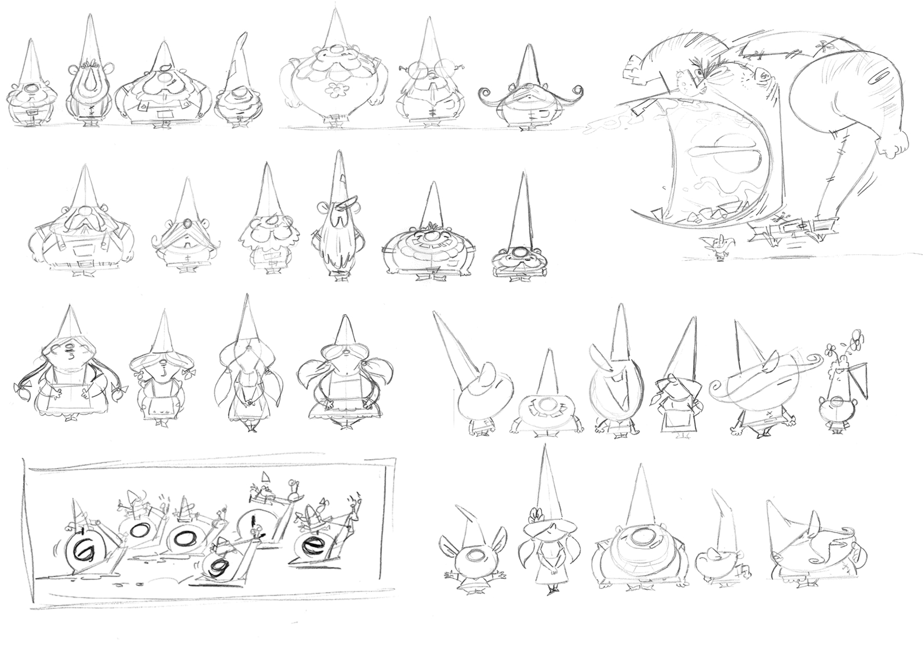 Early gnome designs and maybe one ogre?