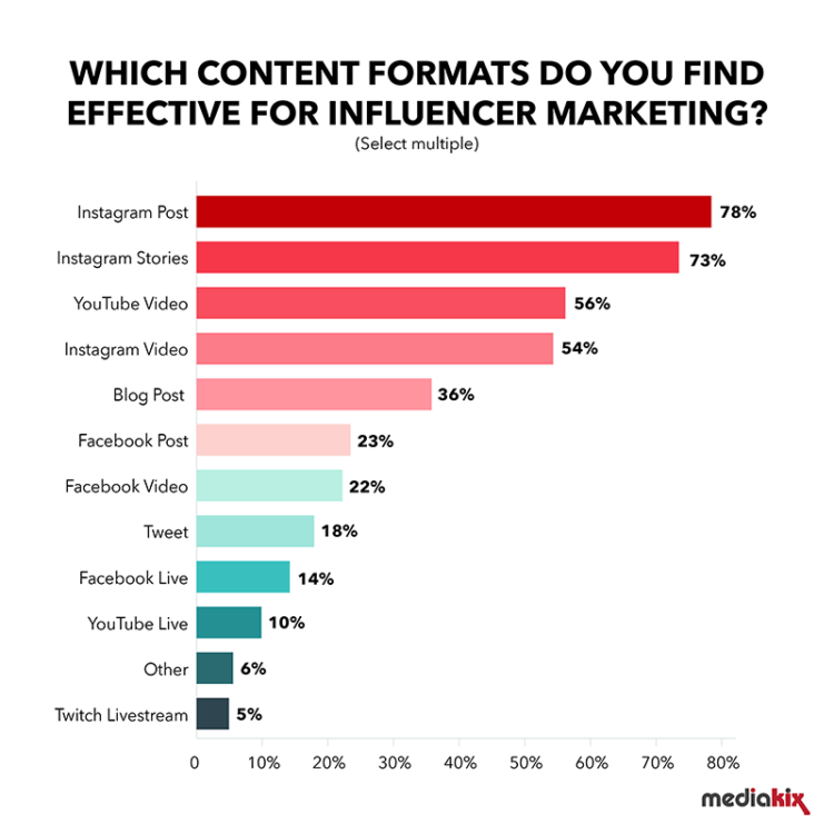 Top Effective Content Formats for Influencer Marketing (Credit)