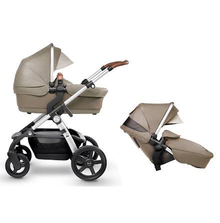 Silver Cross Wave barnvagn för 1 eller 2 barn, Linen
