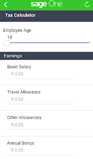 Sage One Tax Calculator- screenshot thumbnail