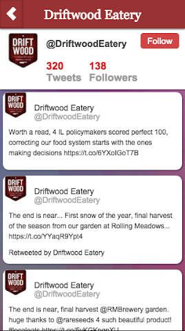 android Driftwood Eatery Screenshot 1