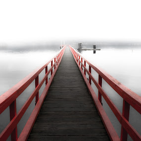 Oblivion by Shaun Groenesteyn - Landscapes Waterscapes ( haze, fog, path, sea, pier, ocean, walkway, beach, dock )