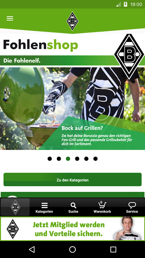 App Borussia Mönchengladbach