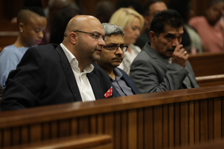 Ashu Chawla (Middle) - Sahara Computers Chief Executive, at Pretoria High Court for Gupta companies vs. Bank of Baroda case.