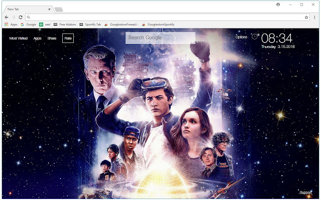 Ready Player One Wallpapers New Tab Themes