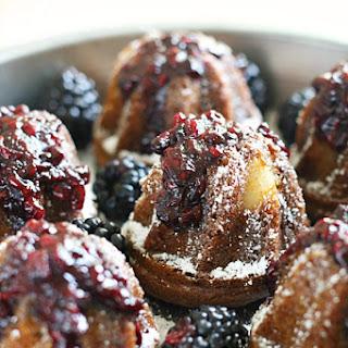 Spiced Pear Tea Cakes with Blackberry Jam