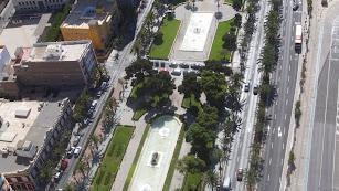 Imagen aérea de la Vía Parque