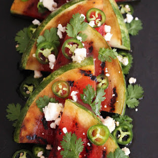 Grilled Watermelon with JalapeñOs, Feta and Honey Recipe