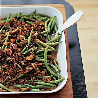 Green Beans with Cremini Mushroom Sauce.