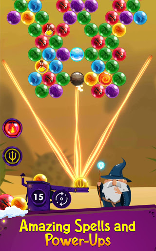 Bubble Shooter: Bubble Wizard, match 3 bubble game apkmr screenshots 2
