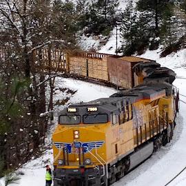 Gibson Pollard Flats by Sherry Gardner - Transportation Trains