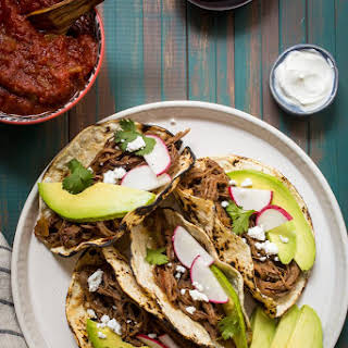 Spicy Shredded Beef Tacos.