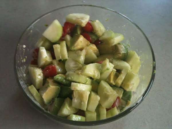Cucumber, Tomato And Avacado Salad Recipe