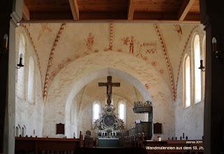 Photo: Wandmalereien aus dem 13. Jh. in der Dorfkirche Ruchow