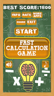 Fast Calculation Game - náhled