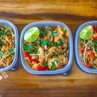 Healthy Chicken Pad Thai Meal Prep.