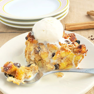 Rum Raisin Bread Pudding with Grains of Paradise