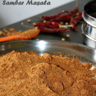 Easy homemade Sambar masala.