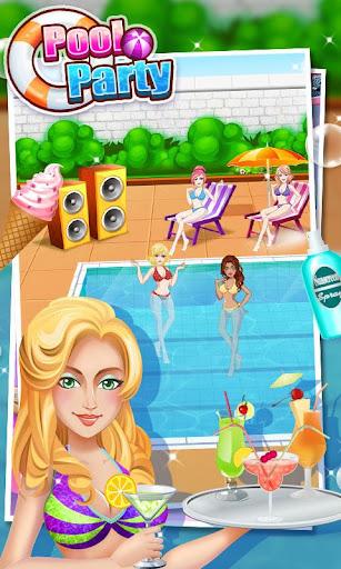 プールパーティーメイクサロン - 女の子ゲーム