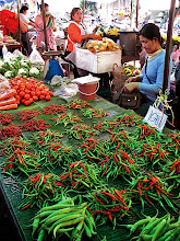 Photo: fresh chilli stall