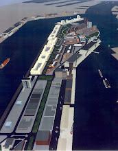 Photo: [2001 ©-Veiligheidsregio Rotterdam en ©-verzameling KBO] - http://www.Katendrecht.info - schetsen & studies - hier zijn de Hanno loodsen langs de Maashaven al ten dele vervangen door plannen.