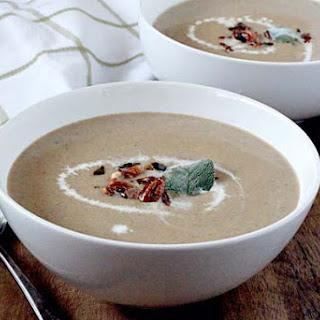 Creamy Wild Mushroom and Sage Soup