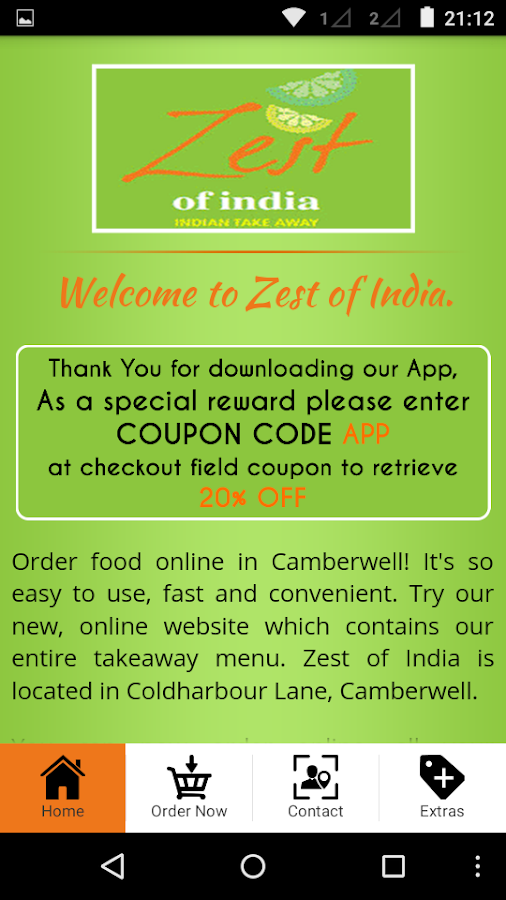 Zest Of India- screenshot