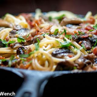Bacon Mushroom Carbonara – Spicy!