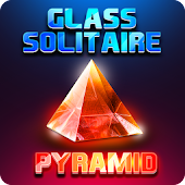 Glass Solitaire Pyramid - 3D