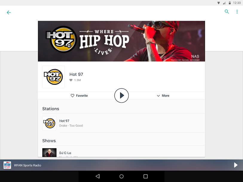 TuneIn: Stream NFL Radio, Music, Sports & Podcasts Android 15