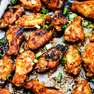 Oven Baked Korean Style Chicken Wings.
