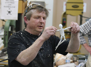 Photo: He never used to do spindle turning but found that spindle turning can be fun and unique.