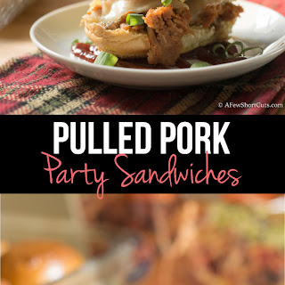 BALL PARK Pulled Pork Party Sandwiches