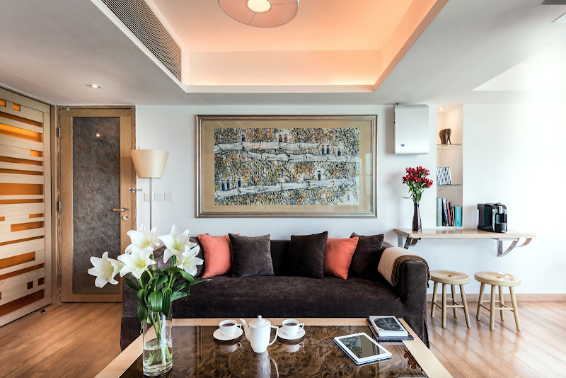Living area at Exotic Residence in Sai Wan, Hong Kong