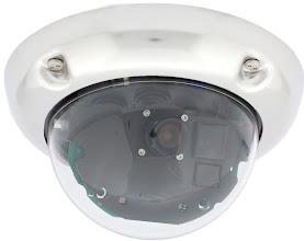Photo: Mobotix D24 IP camera, polished stainless steel anti-vandal set