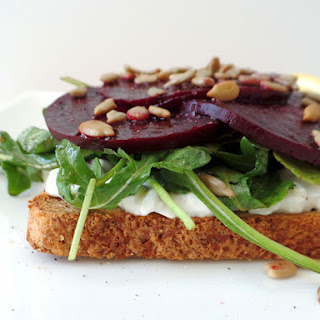 Roasted Beet and Cottage Cheese Toast