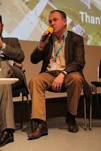 "Photo: Stanislav Naumov - final panel discussion - ""Communicating Science & Innovations""- 2012"