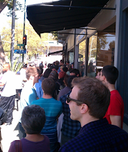 Photo: Line outside Bake Sale Betty in Oakland for her fried chicken sandwiches. On p. 17 of Oakland in Popular memory. Photo by Matt Werner