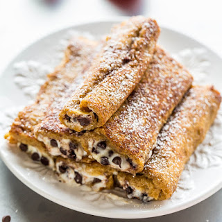 Cannoli French Toast Rollups