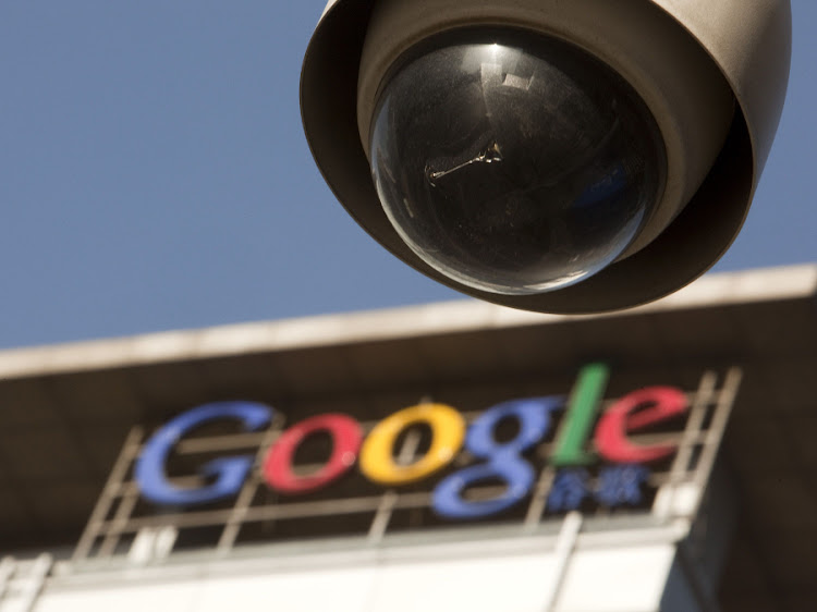 A security camera is mounted near Google. Picture: BLOOMBERG