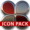 Red silver glas icon pack HD icon