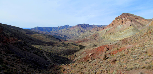 View from Red Pass toward Titus Canyon