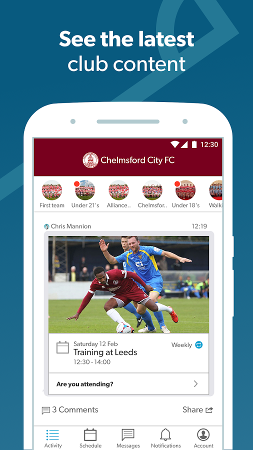 Pitchero Club- screenshot