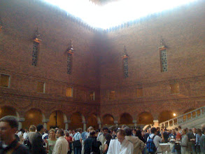 Photo: ietf welcome reception at Stockholm city hall