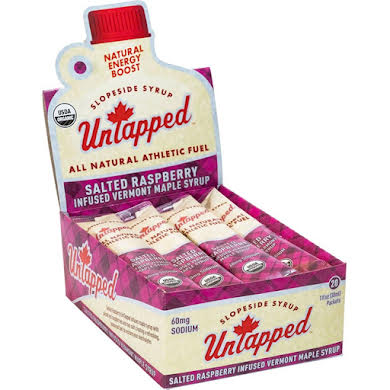 UnTapped Maple Syrup Salted Raspberry Infused Athletic Fuel Gel Packets - Box of 20