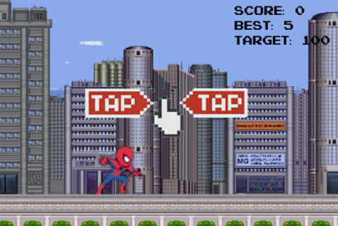Subway Target for Spiderman