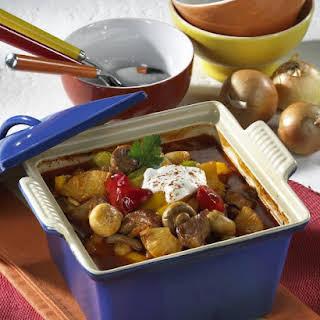 Pepper and Pineapple-Braised Pork.