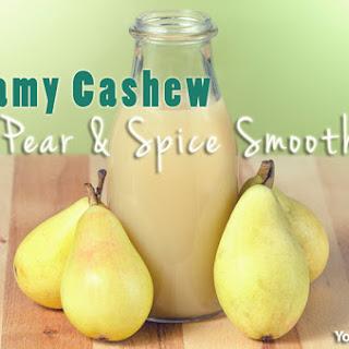 Creamy Cashew Pear & Spice Smoothie