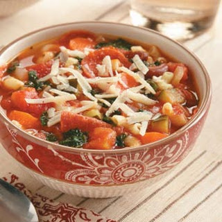 Hearty Slow Cooker Minestrone Soup.