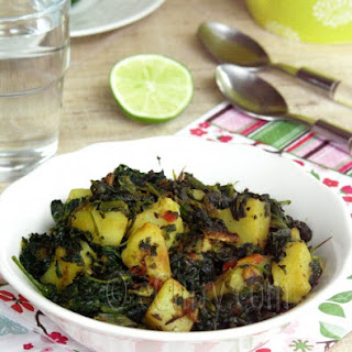 Aloo Palak/Spinach with Potatoes